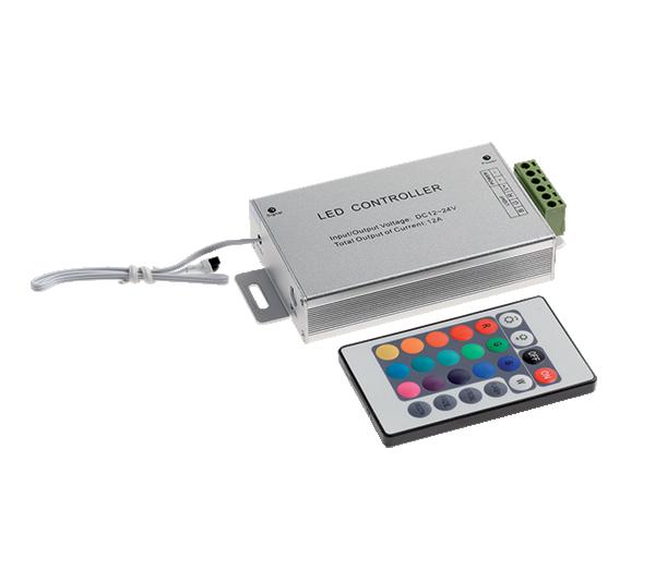 Infracrveni RGB kontroler 12V, 10A, 24 tastera ELMARK