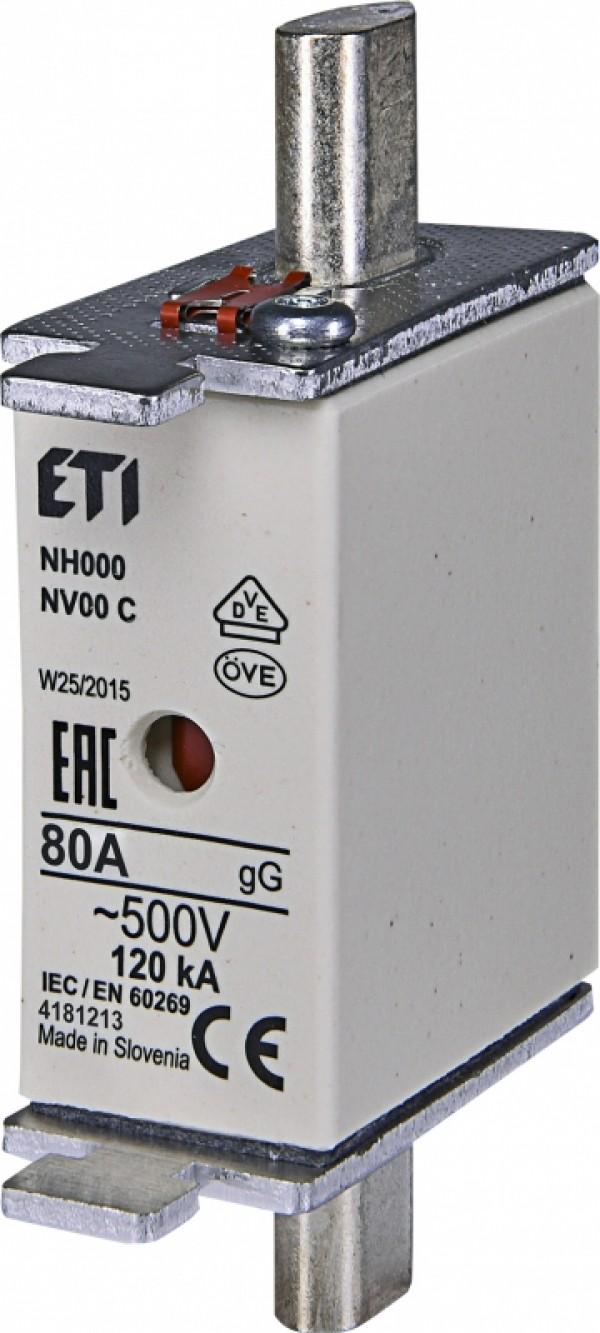 Nožasti osigurac NV00 80A ETI