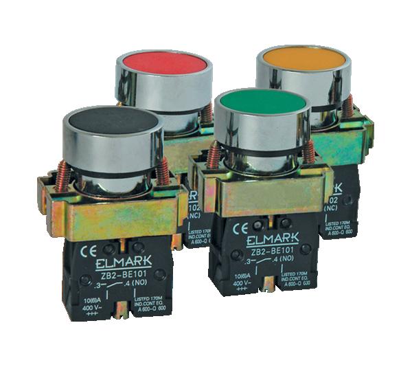 Taster EL2-BP 31 zeleni IP65 401032 Elmark