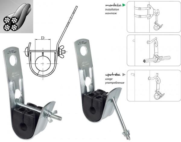 Noseća stezaljka PS116 za SKS 4x10-16