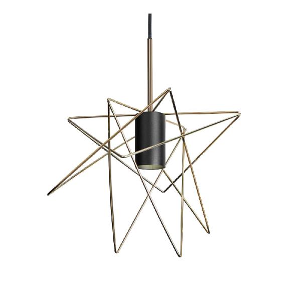STAR viseća svetiljka 1xE27 crno/zlatna 955STAR1/BL Elmark