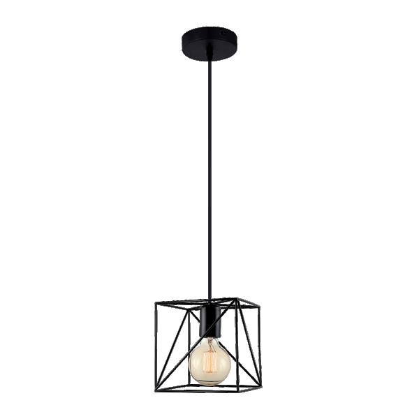 TERI viseća svetiljka 1xE27 crna 955TERI1/BL Elmark